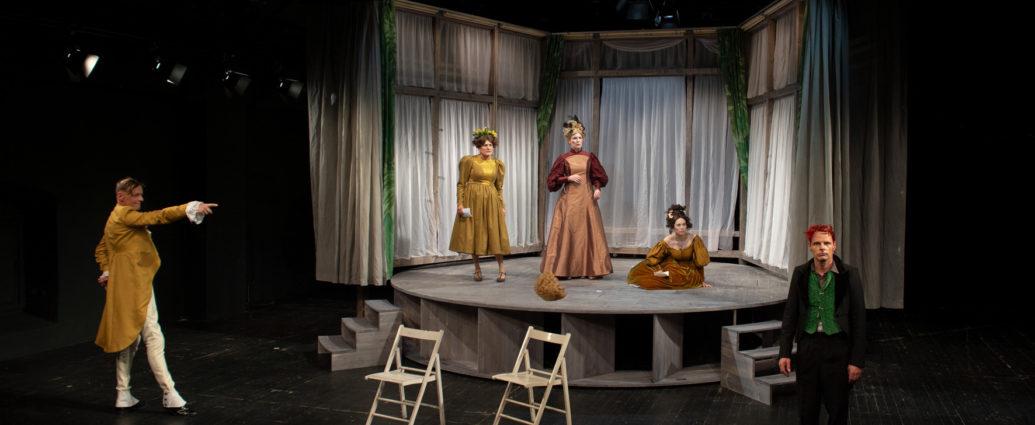 Olaf Salzer (Monsieur Marquis), Ute Hamm (Flora Baumscheer), Susanne Wende ( Frau von Cypressenburg), Kristina Kahlert (Constantia), Theo Helm (Titus Feuerfuchs)