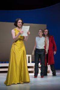 Roxane (Tina Eberhardt), Christian de Neuvillette (Nikola Rudle-Jaritz) & Cyrano de Bergerac (Christoph Wieschke)